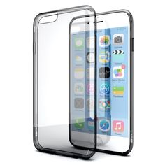 iPhone 6 Case, Enther® [Ultimate Cushion]Slim Scratch / Dust Proof Hybrid Transparent Clear Case with Shock Absorb Trim Bumper (Black)