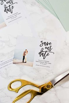 We'll show you how to make your own gorgeous save the date magnets at home for half of what you'd spend if you had them professionally printed | Pipkin Paper Company