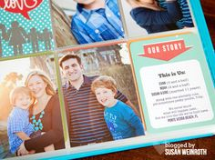 """2013 Project life Cover Page 1 - Susan Weinroth; love the """"this is us"""" card"""