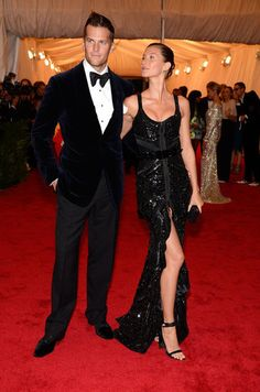 Tomb Brady and Gisele Bunchden in Givenchy by Ricardo Tisci at the Met Gala 2012