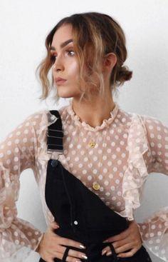 pink blouse   jumpsuit