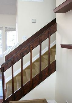 80s Banister And Entryway Update Home Ideas Banisters