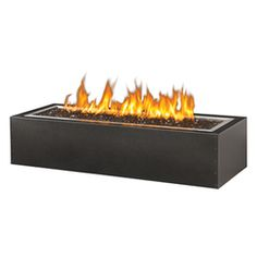 The Linear Gas Patioflame Fire Pit, Rectangular by Napoleon offers a whole new dimension of outdoor entertaining with the natural beauty of fire. Glass Fire Pit, Gas Fire Pit Table, Fire Pits, Foyers, Gas And Charcoal Grill, Gas Supply, Modern Fire Pit, Propane Gas Grill, Steel Railing