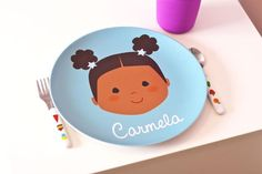 Olligraphic personalized plates | coolest birthday gifts for 4 year olds