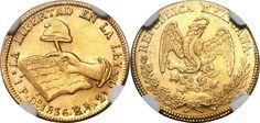 Republic gold 1 Escudo 1836 Scarce grade for this era from the Durango Mint.