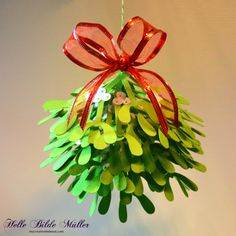 3D Mistletoe from the Christmastime Collection by Bird's SVGs. #birdscards #birdssvgs