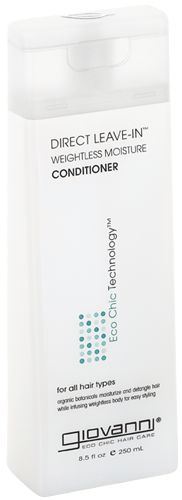 Giovanni Cosmetics | Eco Chic® Hair Care - DIRECT LEAVE-IN WEIGHTLESS MOISTURE CONDITIONER. 8.5 oz, $7.95.