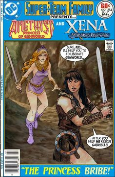Super-Team Family: The Lost Issues!: Amethyst and Xena