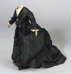 doll accessories 1865 | dolls, , A four-piece Lady Doll's Outfit of Black Silk and Jet, circa ...
