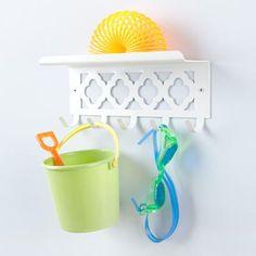 Kids' Storage: Kids Shelf and Wall Hook in Shelf