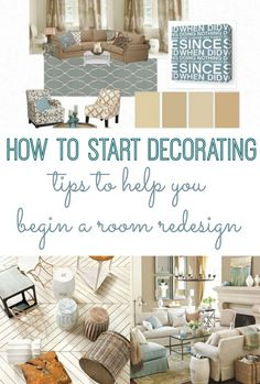 How to Start Decorating: Tips to Begin a Room Redesign. Tips on where to even begin when you want to redecorate a room. How to start decorating. Living Room Decor Visit the image link for more details. Diy Décoration, Diy Home, My New Room, Home Decor Inspiration, Decor Ideas, Diy Ideas, Decorating Tips, Living Room Decorating Ideas, Interior Decorating Styles