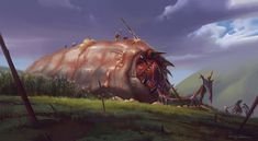 The Giant Worm by Sung Choi | Illustration | 2D | CGSociety
