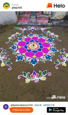 Rangoli Designs Flower, Rangoli Border Designs, Rangoli Designs Diwali, Rangoli Designs With Dots, Rangoli Designs Images, Flower Rangoli, Beautiful Rangoli Designs, Rangoli Borders, Rangoli Patterns