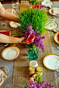 The Flowers - A Spring Vegetarian Dinner for Six