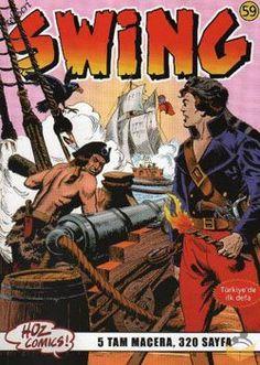 Kaptan Swing   1966 Temmuzunda Stüdyo EsseGesse tarafından yazılıp çizilmeye başlanan Kaptan Swing, her biri 64 sayfa olmak üzere 280 serüveni yayınlanmıştır. Çok çeşitli senaryolar ve cep kitabı boyutlarında yayınlanan bir dergi olmasına rağmen çok detaylı çizilmiştir. 1961 yılında IL COMMANDANTE MARK (Komutan Mark) adıyla yaratıldı. Fransa'da Captain Swing adını aldı, Türkiye'ye de Kaptan SWING olarak geldi. Aynı Çelik Blek'in giydiği gibi, kunduz kürkünden bir başlık takar.