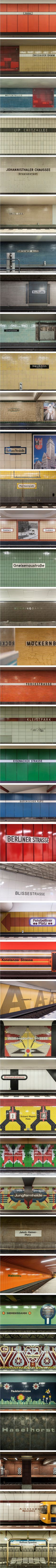 U7 station names from Rudow to Rathaus Spandau, by Kate Seabrook. (Photo by Kate Seabrook. All Rights Reserved).