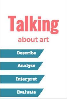 Writing about art, journal/ worksheet Teaching Art, Teaching Resources, Teaching Ideas, Art Essay, Art Critique, Ap Drawing, Art Criticism, Museum Studies, Teacher Boards