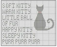 big bang theory soft kitty song cross stitch pattern