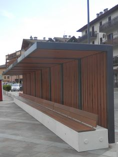 Trentino Italy benches concrete. Bellitalia very elegant street furniture solutions