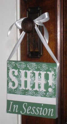 Items Similar To Shh In Session  Spa,Salon,Massage,Aesthetician,Therapist  Door Sign Hanger On Etsy