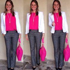 Resultado de imagem para camisa e calça feminina trabalhar