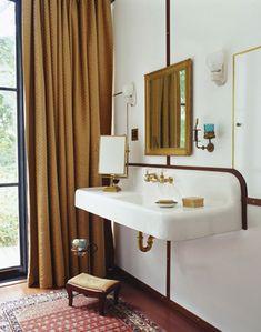 vintage sink, gold h