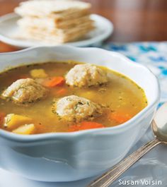 VEGAN MATZO BALL SOUP WITH SPRING VEGETABLES  This vegan matzo ball soup recipe is chock-full of spring vegetables, and the perfect prelude to the Passover Seder dinner. But more importantly, it's vehicle for delicious Vegan Matzo Balls.