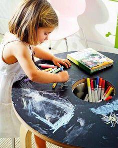 Furniture for playful children Drawing For Kids, Art For Kids, Kid Desk, Childrens Beds, Kids Wood, Little Girl Rooms, Creative Kids, Kids Decor, Kids House