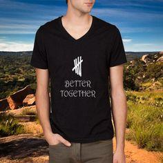 Better Together 5sos logo Basic v neck tshirt