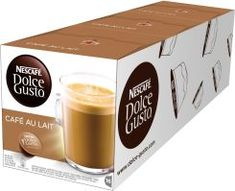 Get up and get moving each morning when you brew a cup with one of these Nescafe Single Serve Dolce Gusto Caf Au Lait Capsules. The rich dark roast coffee boasts caramel and toasted cereal flavors for a decadent boost of caffeine. Coffee Type, Coffee Pods, Arabica, Coffee And Espresso Maker, Caramel Latte, Decaf Coffee, Single Serve Coffee, Shops, Latte Macchiato