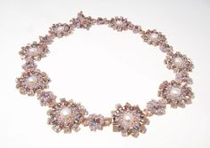 Free Tutorial: Seedbead Necklace In Lilac And Rose featured in Bead-Patterns.com Newsletter!