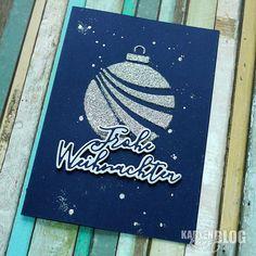 Karten-Kunst » Weihnachtskugel mit neuer Technique