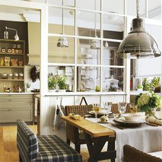 Closing off an open-plan kitchen or semi open-plan kitchen design