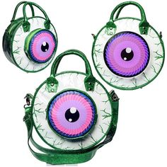 Kreepsville - EYEBALL BAG GREEN GLITTER - #infectiousthreads #goth #gothic…