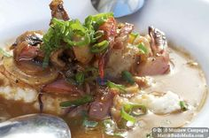 Spicy shrimp and grits from The Front Porch