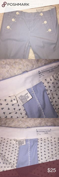 Anthropologie G1 sailor pants - Size 6 - EUC! Anthropologie's G1 common good brand created these super adorable sailor pants. Purchased from Anthropologie and then only wore them twice or so.   Size 6  EUC - excellent used condition. Anthropologie Pants Trousers