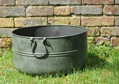 Buy Verdigris low metal planter: Delivery by Waitrose Garden in association with Crocus Metal Planters, Garden Planters, Planter Pots, Drink Bucket, Cool Things To Buy, Stuff To Buy, Dream Garden, Scene, Antiques