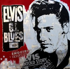 Elvis GI Blues red  100x100 Alu Blues, Red, Fictional Characters, Pictures, Fantasy Characters