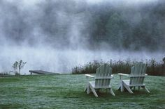 There's nothing like a cup of coffee and a foggy spring morning in the Carolina mountains | Inn at Half-Mile Farm in Highlands, North Carolina | Southern Living Handpicked Hotels |