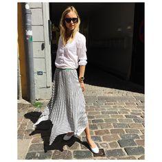 "Pernille Teisbaek on Instagram: ""Whites & stripes✔️ see more on Lookdepernille now."""