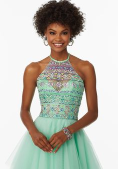 Prom Dress by Mori Lee Available at Bridal and Formal's Club Dress  call (513) 821-6622 for availability or questions.