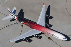 Etihad Formula One Grand Prix A340 -600 Logojet