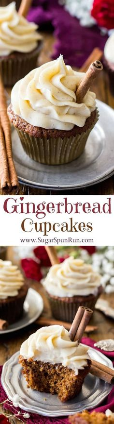 These gingerbread cupcakes are so soft and fluffy in texture and so unique in taste-- infused with spices, you'll love them!