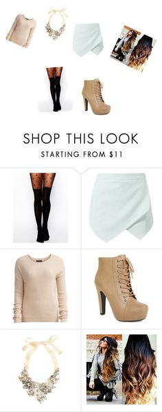 """""""N for nude"""" by dina-roussou ❤ liked on Polyvore featuring ASOS, Vila Milano and J.Crew"""