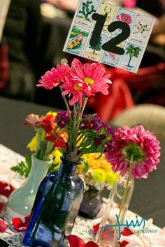 Loteria table numbers, Dia De Los Muertos Wedding, via @offbeatbride