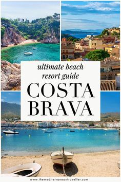 Costa Brava Guide. Heading to the Costa Brava this year for some summer sun? Here's a guide to the region's beach resorts, including where to find the best sandy beaches, beachfront hotels… Spain Travel Guide, Travel Tips For Europe, Top Travel Destinations, Beach Resorts, Hotels And Resorts, Travel Images, Travel Pics, Southern Europe, European Travel