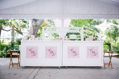 Our Favorite Detail of 2014- Monogrammed Bar! Photo by Dana Cubbage