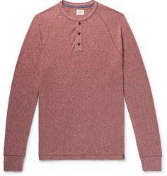 10c8d593e77 Faherty Mélange Organic Cotton-Blend Jersey Henley T-Shirt