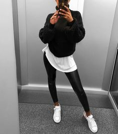 beautiful autumn outfits - find the most beautiful outfits for your autumn look . - beautiful autumn outfits – find the most beautiful outfits for your autumn look. Edgy Outfits, Winter Fashion Outfits, Mode Outfits, Look Fashion, Sport Outfits, Fall Outfits, Womens Fashion, Fashion Clothes, Trendy Black Outfits