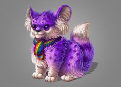 How to Create a Furry Purple Spirit Day Mascot in Adobe Photoshop